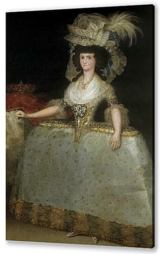 Queen Maria Luisa with a Bustle