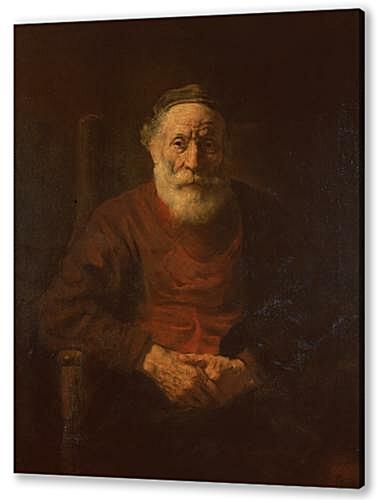 Постер на подрамнике - Portrait of an Old Man in Red