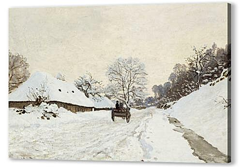 A Cart on the Snowy Road at Honfleu