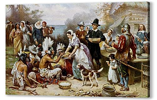 Постер на подрамнике - The First Thanksgiving