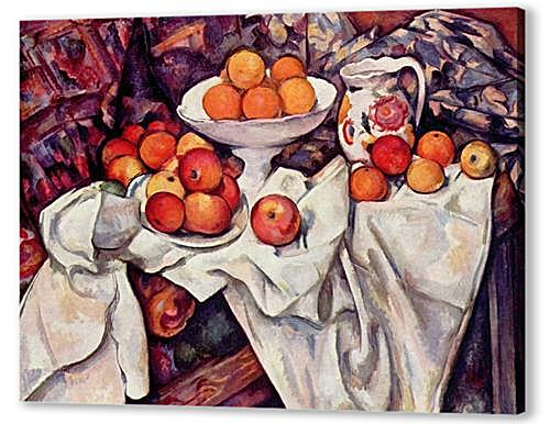 Картина маслом - Still Life with Apples and Oranges