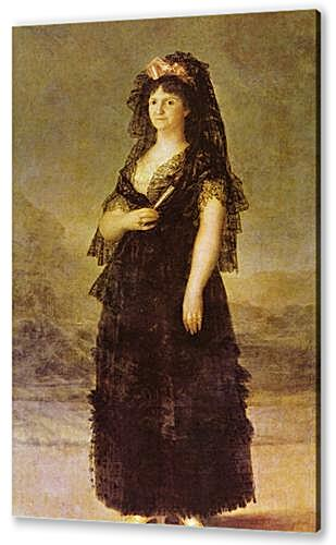 Portrait of the Queen of Spain Maria Louisa, nee Bourbon-Parma