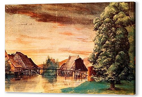 Постер на подрамнике - The Cooper Mill on the Pegnitz