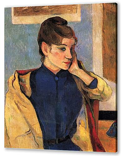 Постер на подрамнике - Portrait of Madelaine Bernardbi, sister of the artist Emile Bernard