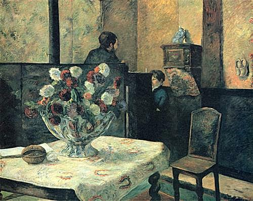 Painting of an interior at rue Carcel (Carcel Street), Paris