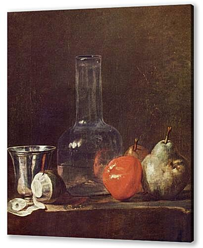 Картина маслом - Still Life with Glass Flask and Fruit