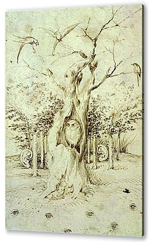 Постер на подрамнике - The Trees Have Ears and the Field Has Eyes by Hieronymus Bosch