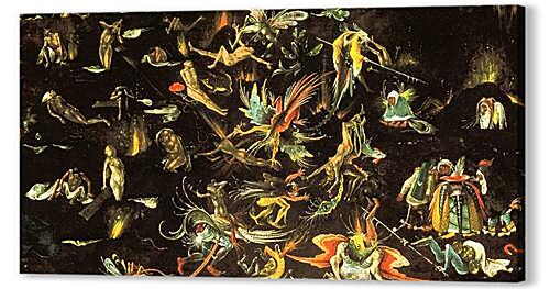 Постер на подрамнике - The resurrection of the dead and doomed lead into Hell (fragment of a Last Judgement)