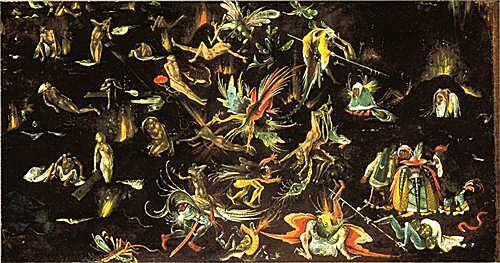 The resurrection of the dead and doomed lead into Hell (fragment of a Last Judgement)