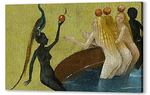 The Garden of Earthly Delights, center panel (Detail women with peacock)