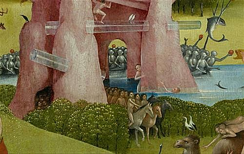 The Garden of Earthly Delights, center panel (Detail