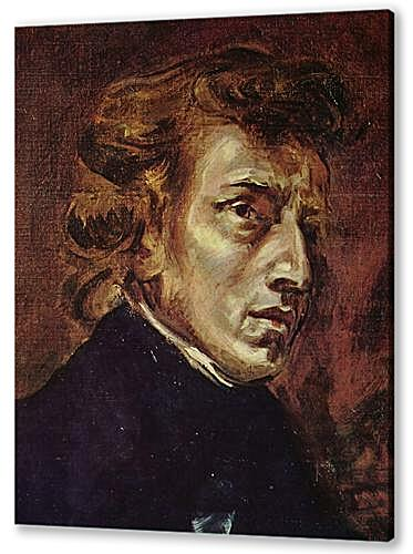 Frederic Chopin as portrayed by Eugene Delacroix