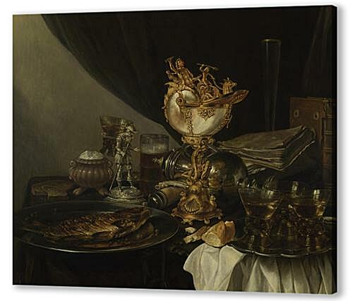 Постер на подрамнике - Still Life with a Nautilus Cup