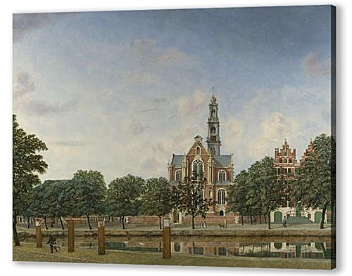 Постер на подрамнике - View of the Westerkerk, Amsterdam