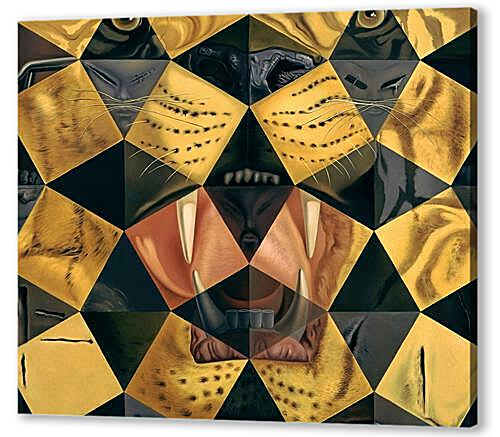 Fifty Abstract Paintings, from Two Yards Change into Three Lenins Masquerading as Chinese, from Six Yards Appear as the Head of Royal Bengal Tiger