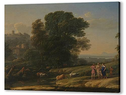 Постер на подрамнике - Landscape with Cephalus and Procris reunited by Diana