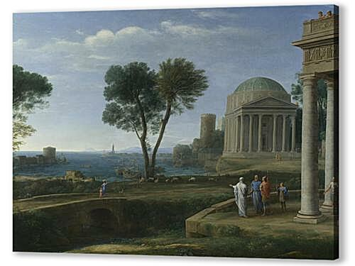 Постер на подрамнике - Landscape with Aeneas at Delos