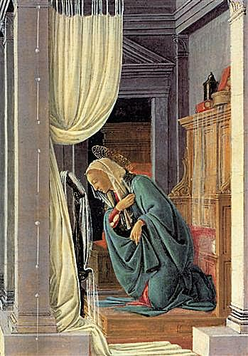 The Annunciation detail