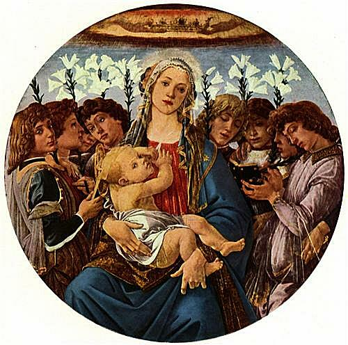 Madonna with eight singing angels