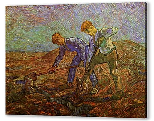 Two Peasants Digging