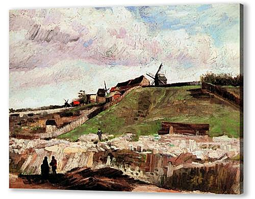 Картина маслом - The Hill of Montmartre with Quarry