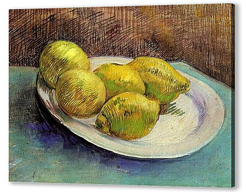 Картина маслом - Still Life with Lemons on a Plate