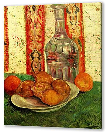 Картина маслом - Still Life with Decanter and Lemons on a Plate