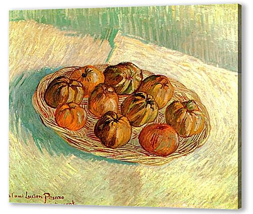 Still Life with Basket of Apples to Lucien Pissarro