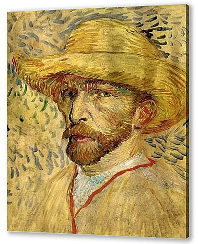 Self-Portrait with Straw Hat 2