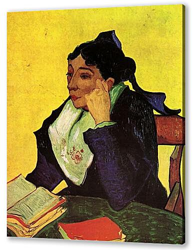 L Arlesienne Madame Ginoux with Books