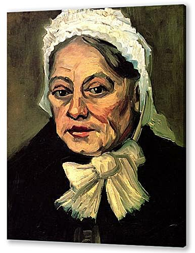 Head of an Old Woman with White Cap The Midwife