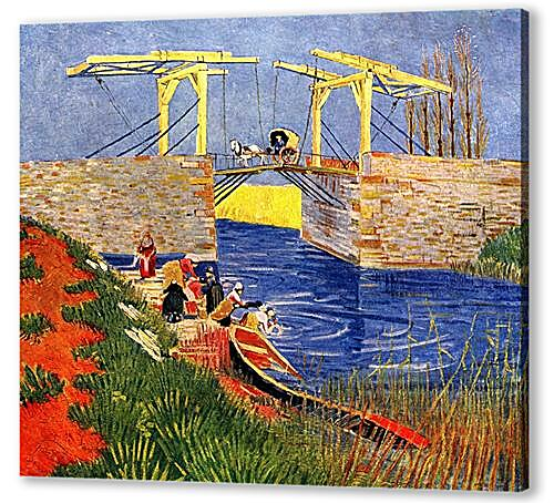 The Langlois Bridge at Arles with Women Washing