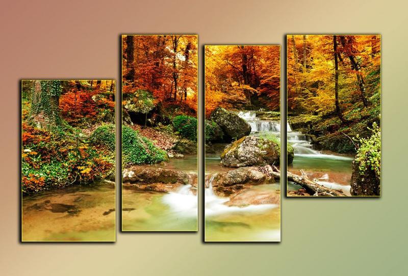 Пейзажные мотивы очень популярны в модульном исполнении