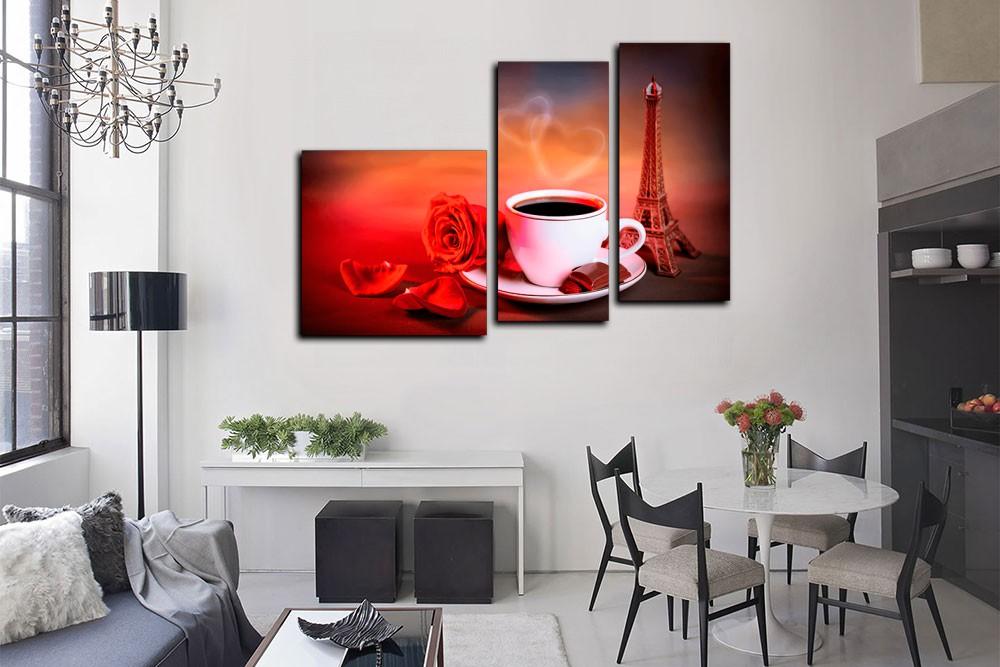 Яркие изображения могут служить центральным декором кухни