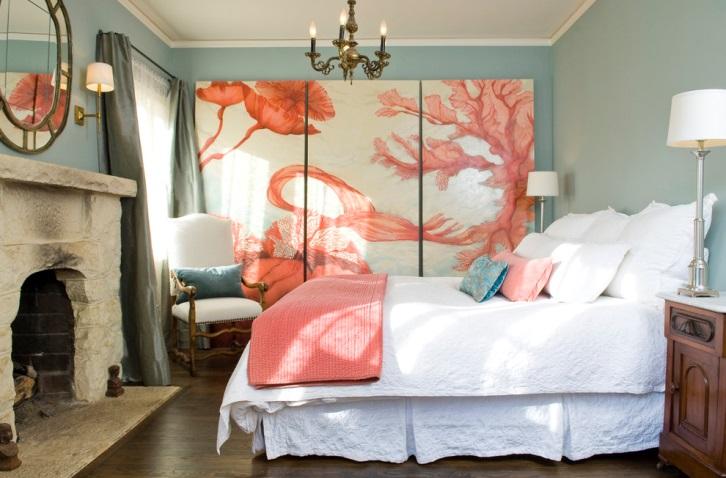 Пастельные тона в спальне помогают спокойно отдохнуть